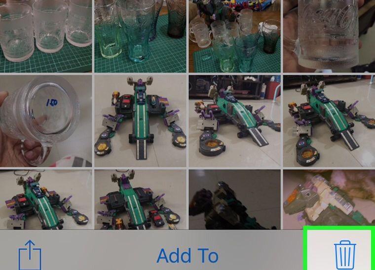 delete photo on iPhone