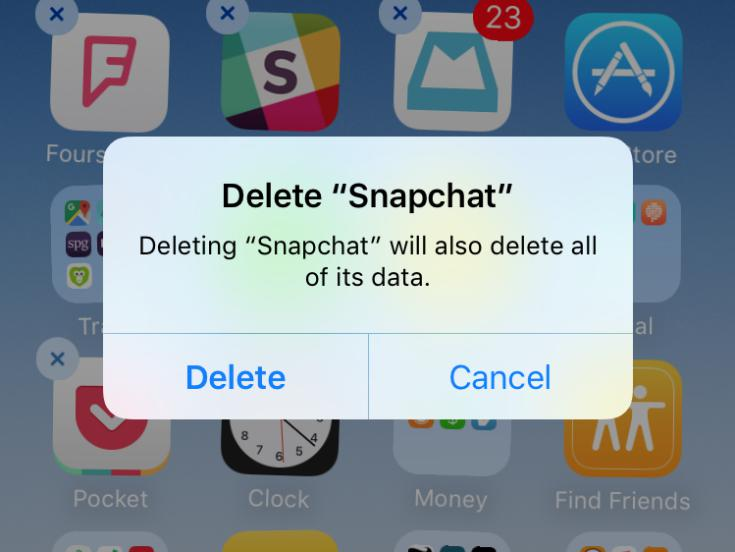 how to make delete storage on iphone