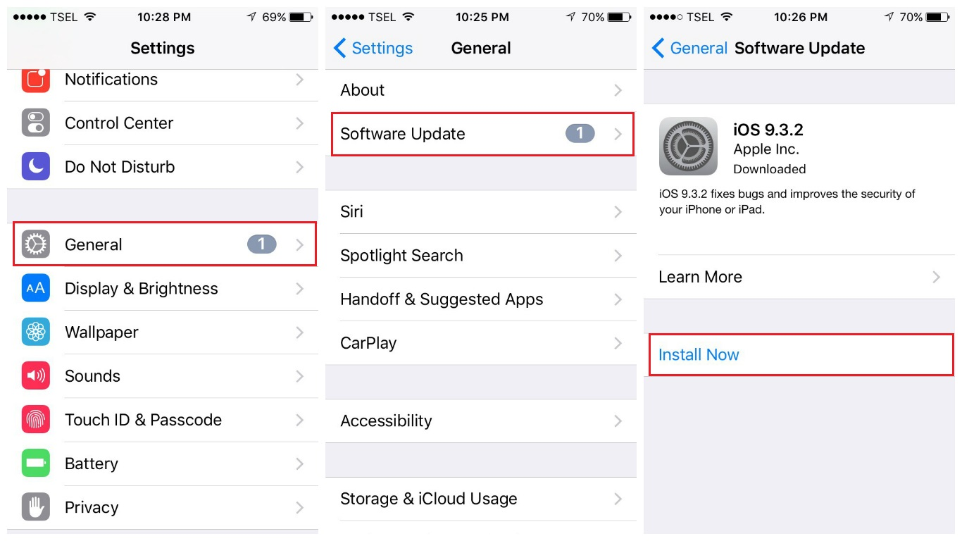 Update iPhone Software via WiFi