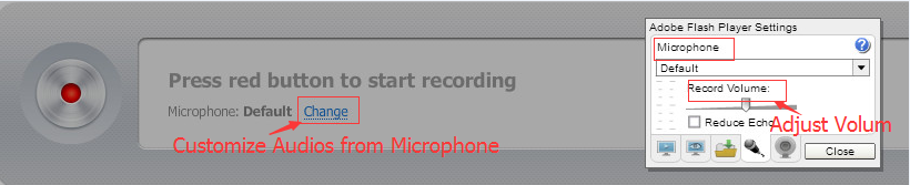 record microphone audio with online voice recorder