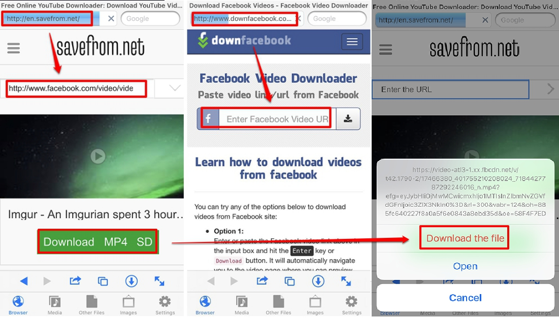 link downloader video