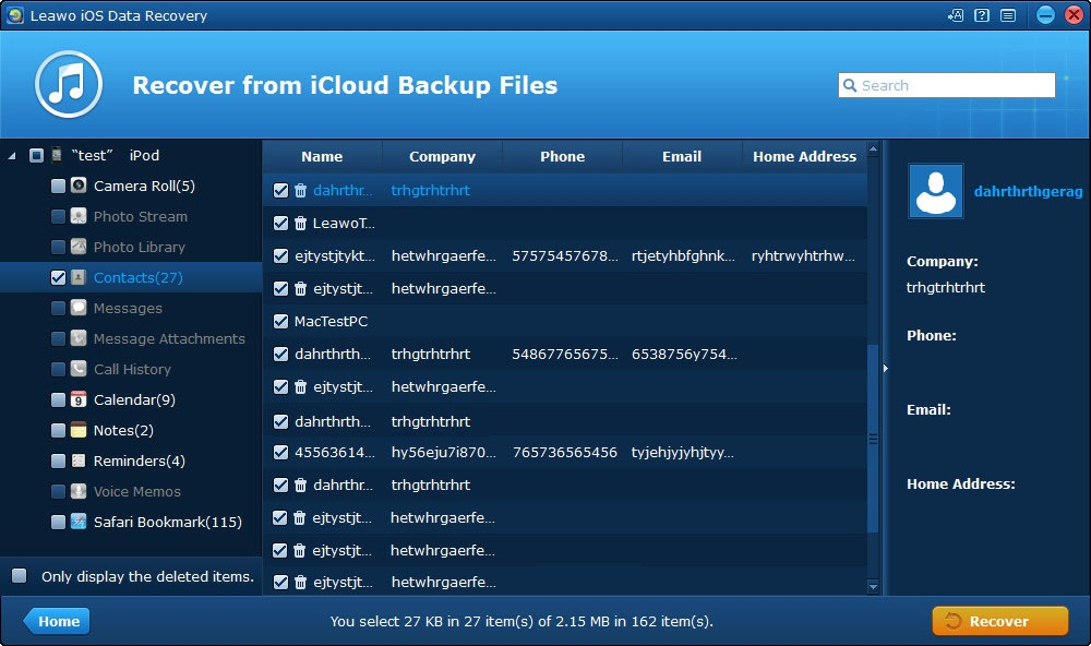 Recover iPhone Data from iCloud