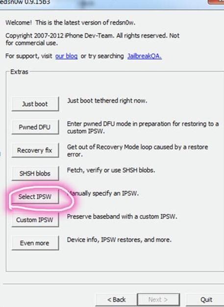 select-ipsw