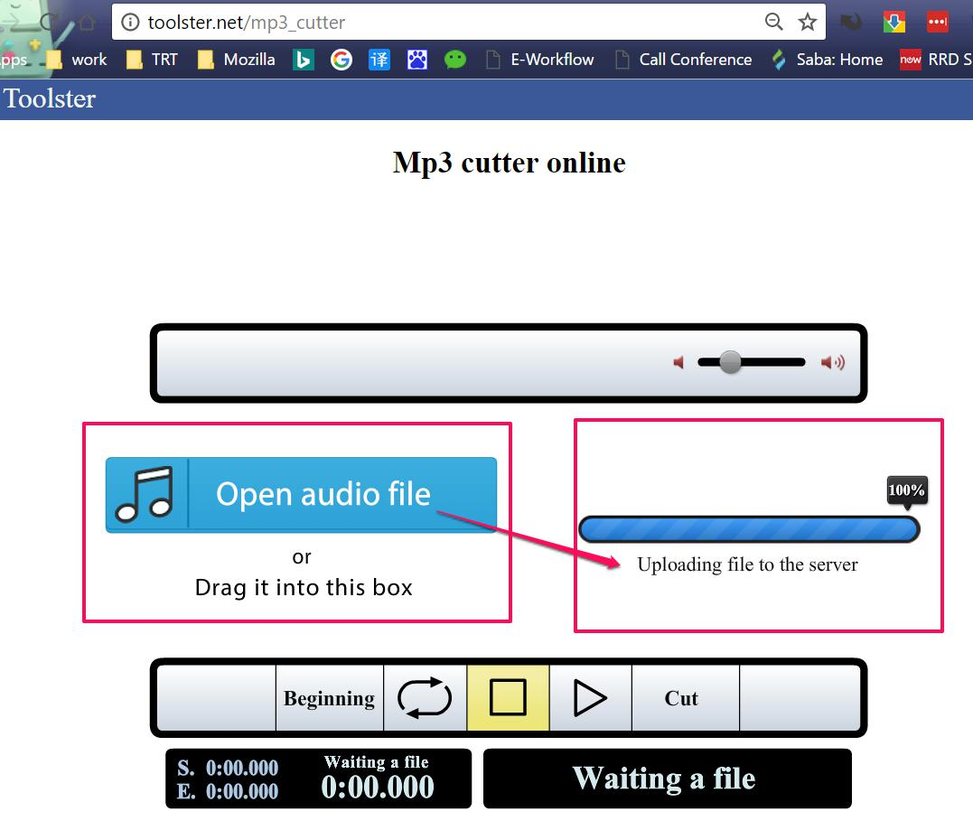 Open your local audio file