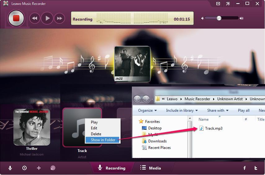 open recorded file folder