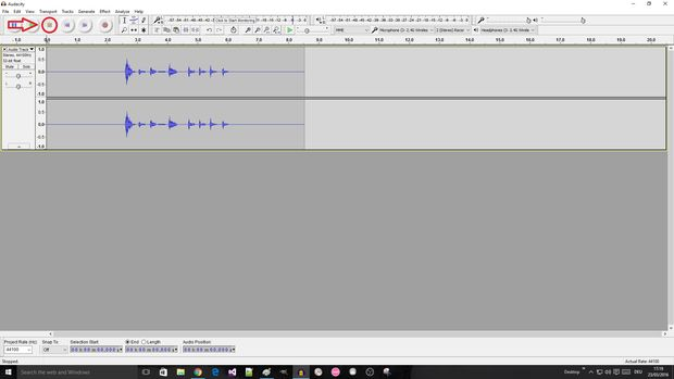 record audio with audacity