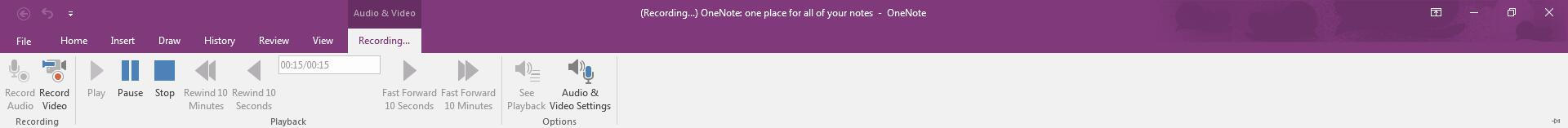Record lectures with OneNote