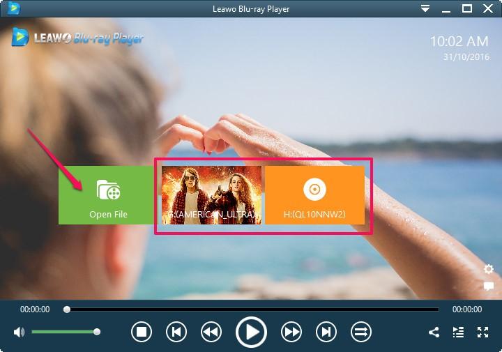 Windows Media Player alternative - Leawo Blu-ray Player