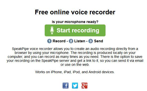 SpeakPipe voice recorder
