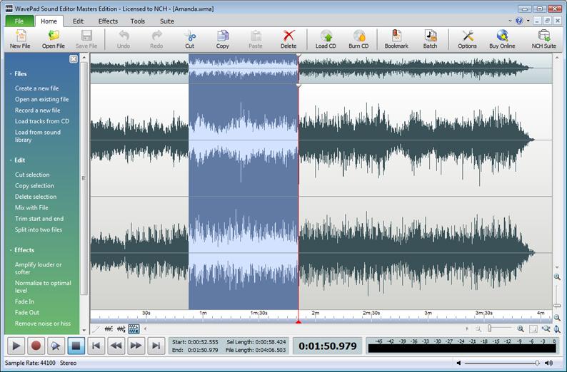 WavePad-Feature-rich Sound Editor
