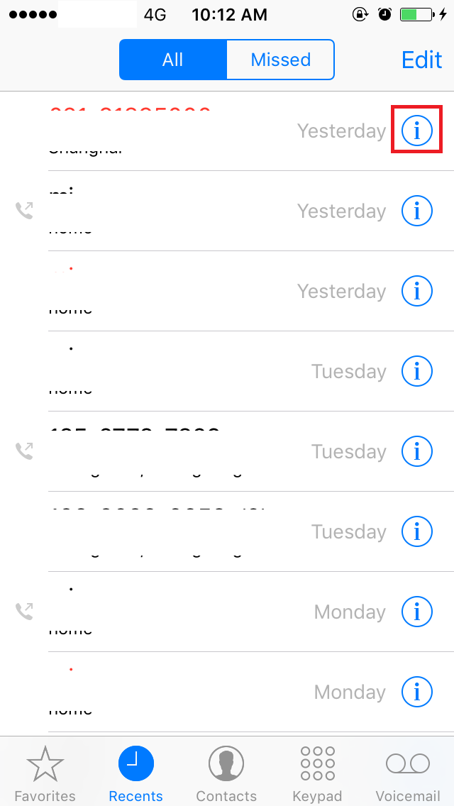 how to see blocked numbers on iphone