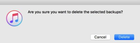 how to delete iphone backup on pc