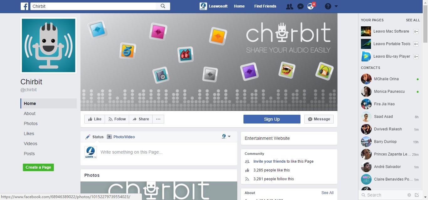facebook mp3 player