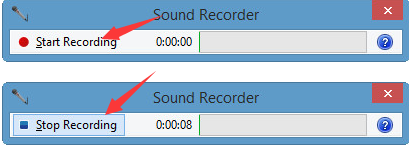 record audio with sound recorder