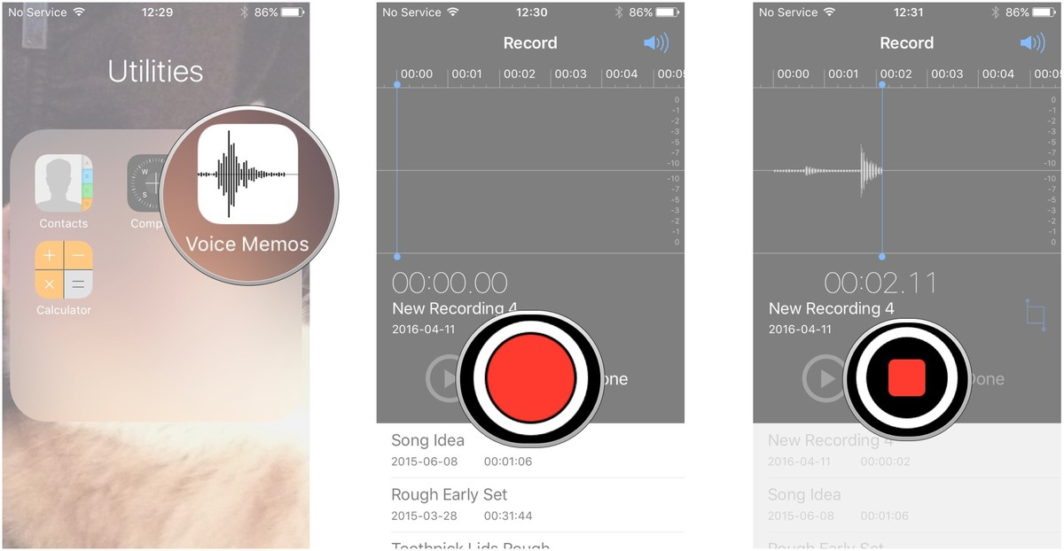 record lecture with voice memos