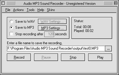 Audio MP3 Sound Recorder