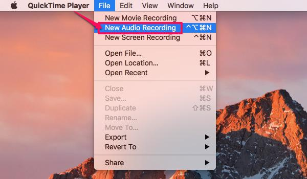 open quicktime player