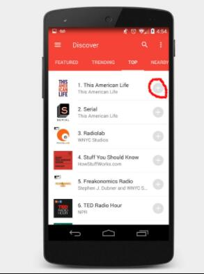 download podcasts on android manually