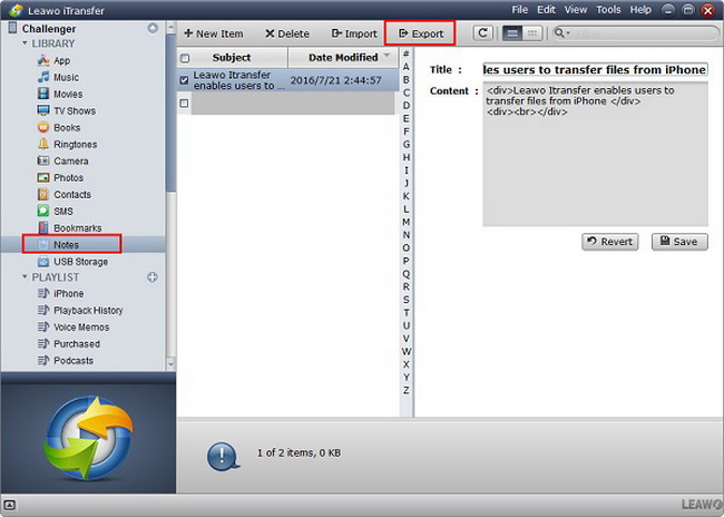 backup-notes-with-leawo-iTransfer2