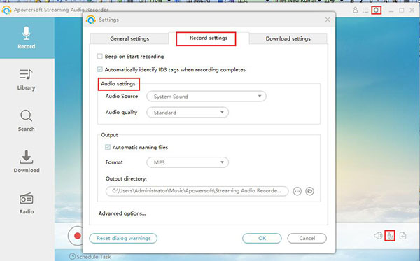 apowersoft free online audio recorder download