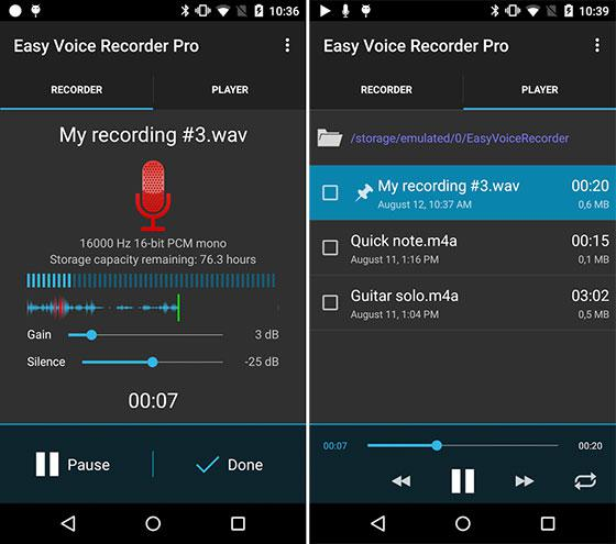 how to get voice recording off the android