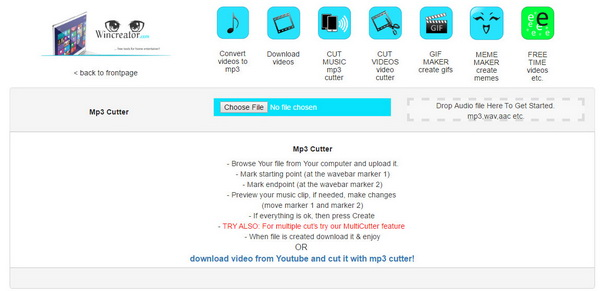 Wincreator MP3 Cutter