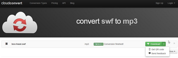 download SWF to MP3 file