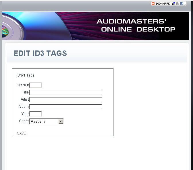 Edit ID3 tags