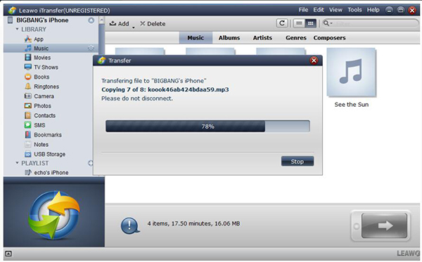 transfer wma to iphone