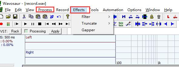 edit audio effect