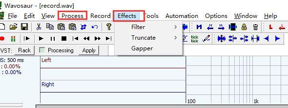 edit audio effect