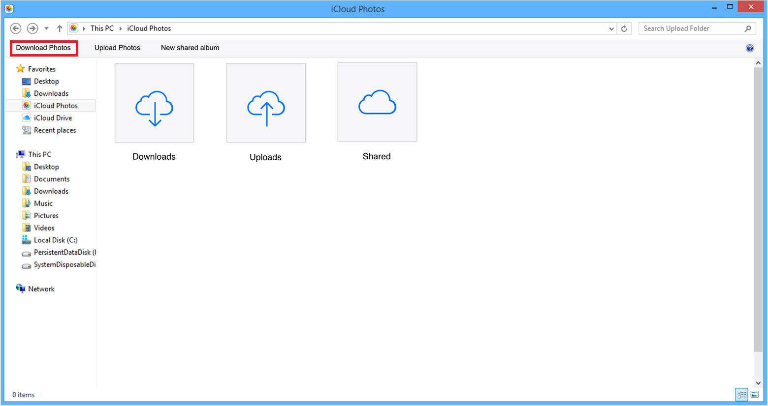 iCloud for Windows Download iCloud photos