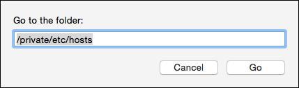 Find hosts file on Mac OS
