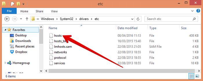 Find hosts file