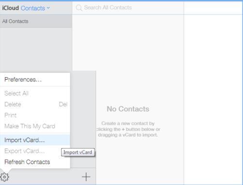 import iCloud accounts