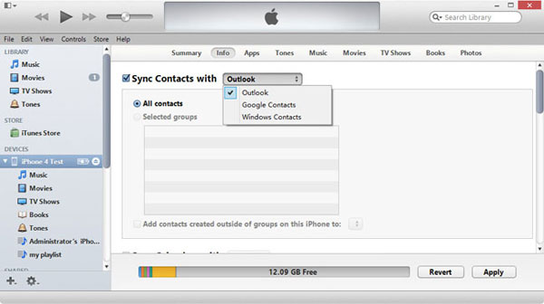 copy contacts from iphone to pc