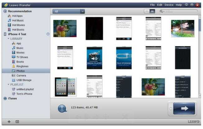 How to Tranafer Photos from iPhone to External Hard Drive with Leawo iTransfer-02
