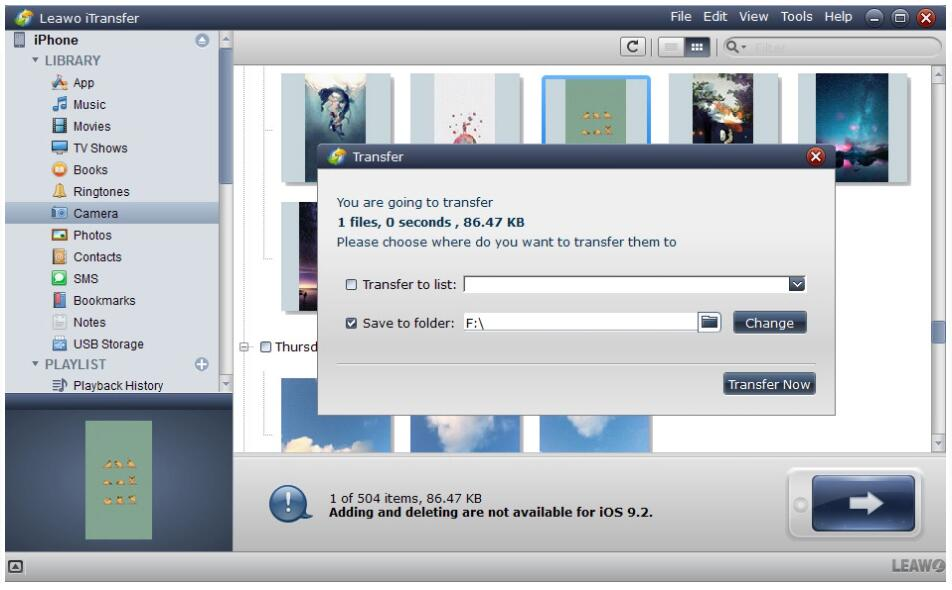 How to Tranafer Photos from iPhone to External Hard Drive with Leawo iTransfer-03
