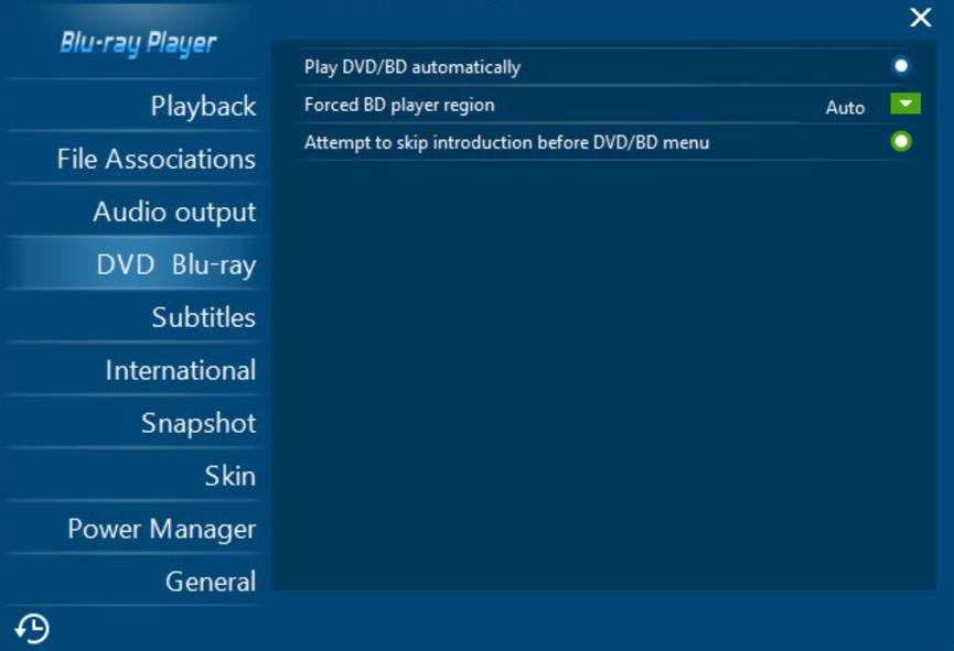 blu-ray player setup
