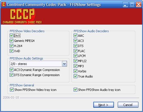 Windows Media Codecs - Windows applications