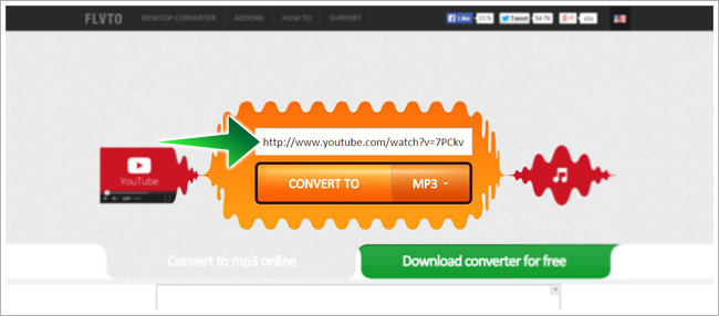 Convert YouTube to MP3 Online with FLVTO