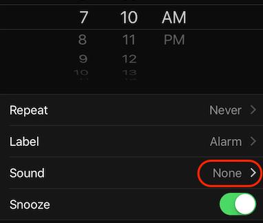 iPhone Alarm Clock