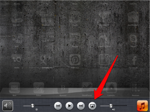how to turn on airplay on ipad 1