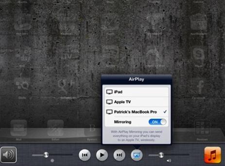 airplay ipad to mac and pc