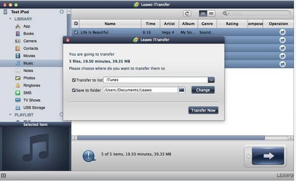 transfer music to mac