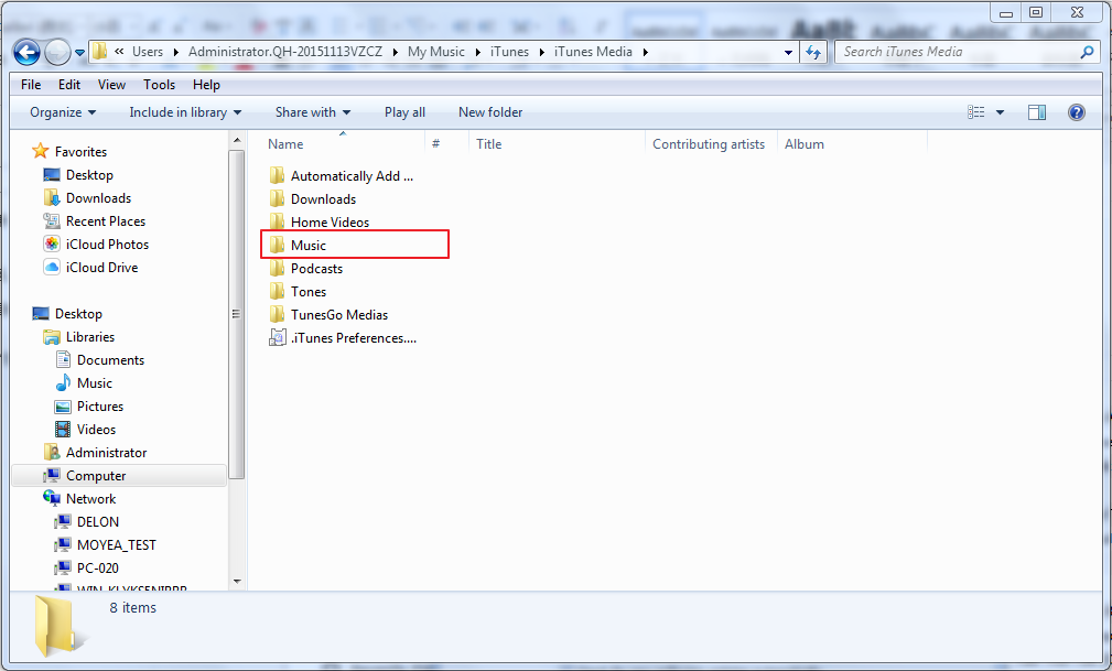 find music in iPod via Windows Explorer