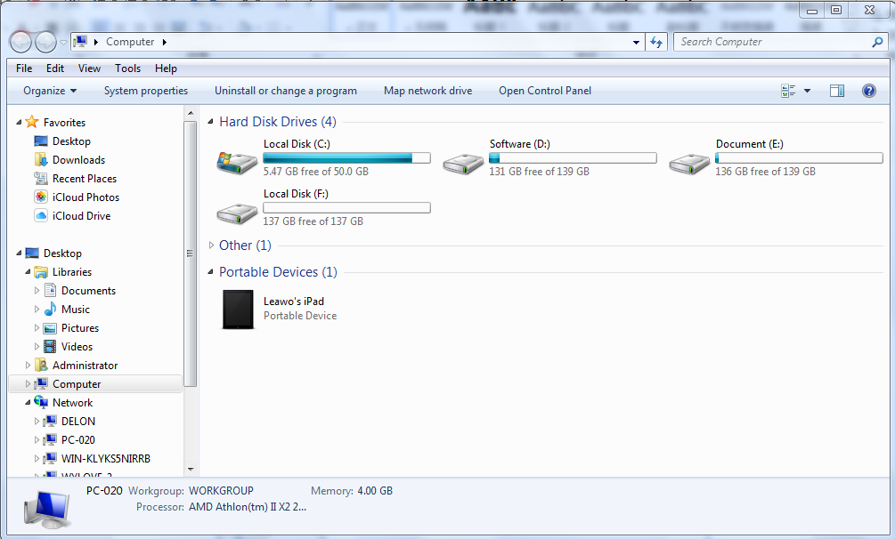 iPad in Windows Explorer