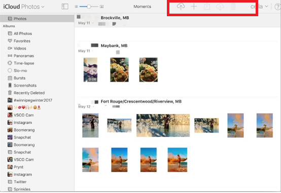 photos in iCloud