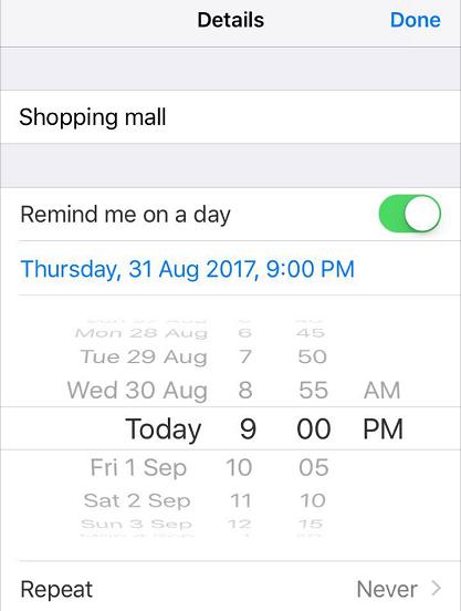 iPhone Reminders