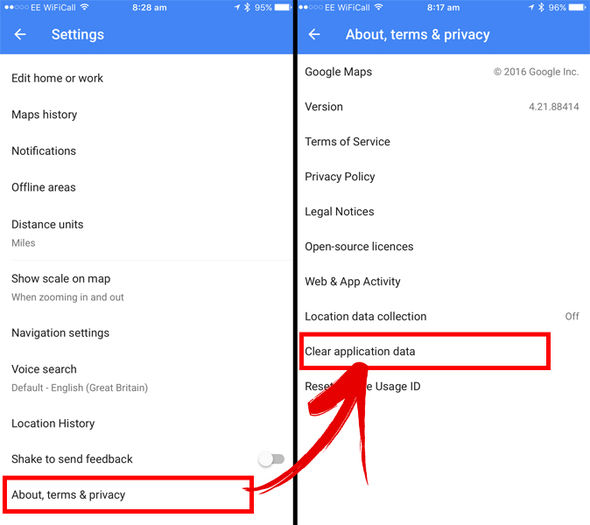 Permanently delete search history on iPhone/iPad